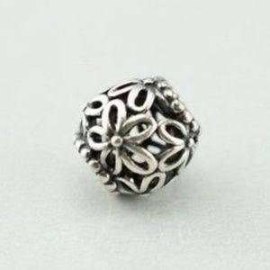 Pandora Sterling Silver Open Work Flower charm